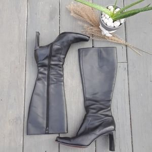 Nine West Black Knee High Boots 6M